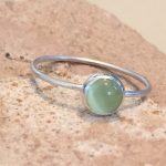 light green birthstone stacking ring