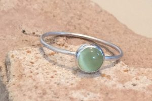 light green birthstone stacking ring
