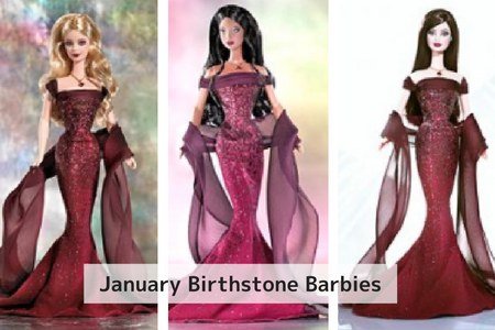January birthstone Barbie garnet