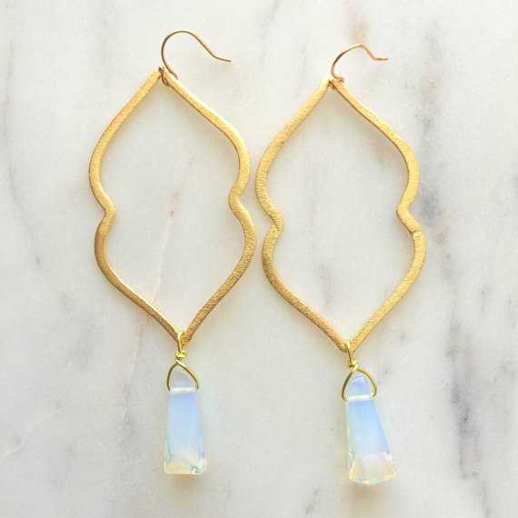 bohemian opal earrings