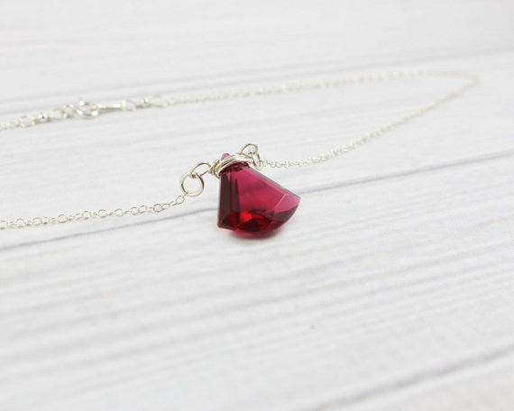 ruby necklace birthstone